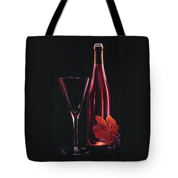Tote Bag featuring the painting A Prelude To Romance by Sandi Whetzel