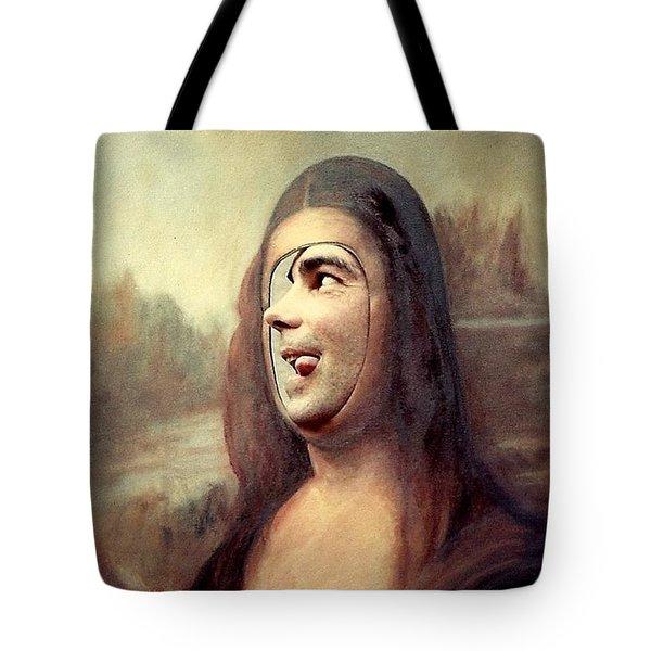 A Profile Of Mona Lisa Tote Bag by Michael Hoard