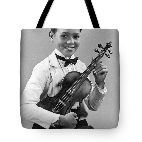 A Proud And Elegant Violinist Tote Bag