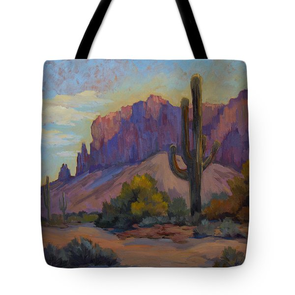 A Proud Saguaro At Superstition Mountain Tote Bag