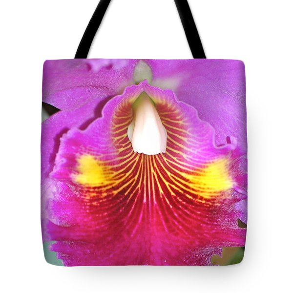 A Purple Cattelaya  Orchid Tote Bag by Lehua Pekelo-Stearns