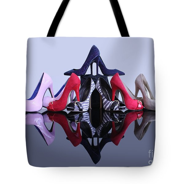 A Pyramid Of Shoes Tote Bag by Terri Waters