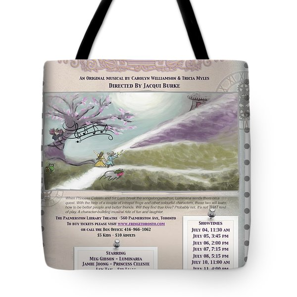 'a Quest Of Character' Poster Tote Bag by Naomi McQuade