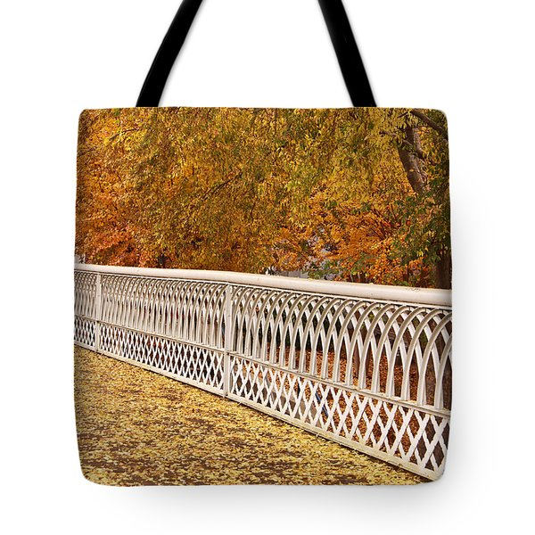 A Quiet Day On The Riverwalk Tote Bag