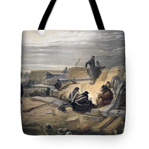 A Quiet Night In The Batteries, Plate Tote Bag