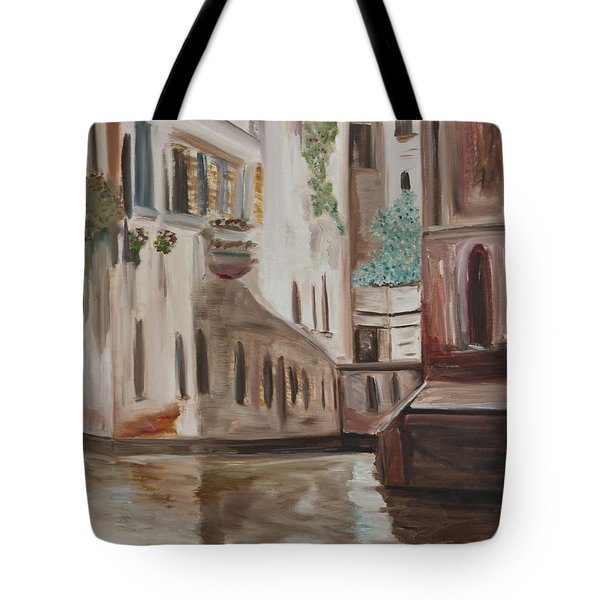 A Quiet Venice Canal Tote Bag