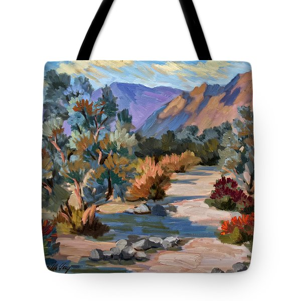 A Quiet Walk In Smoketree Forest Tote Bag by Diane McClary