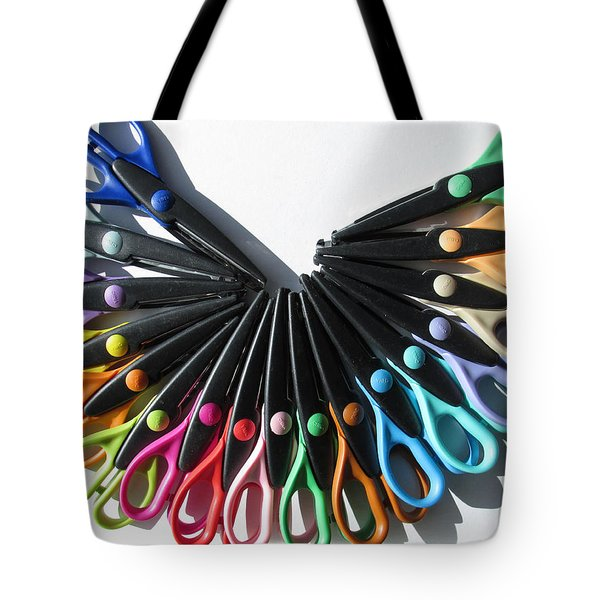A Rainbow Of Scissors Tote Bag