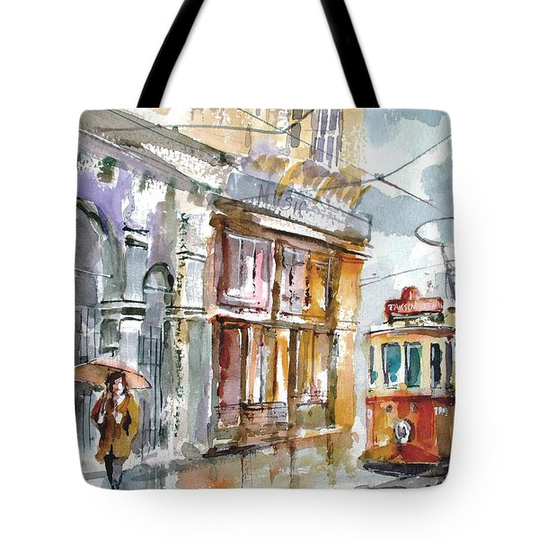 A Rainy Day In Istanbul Tote Bag