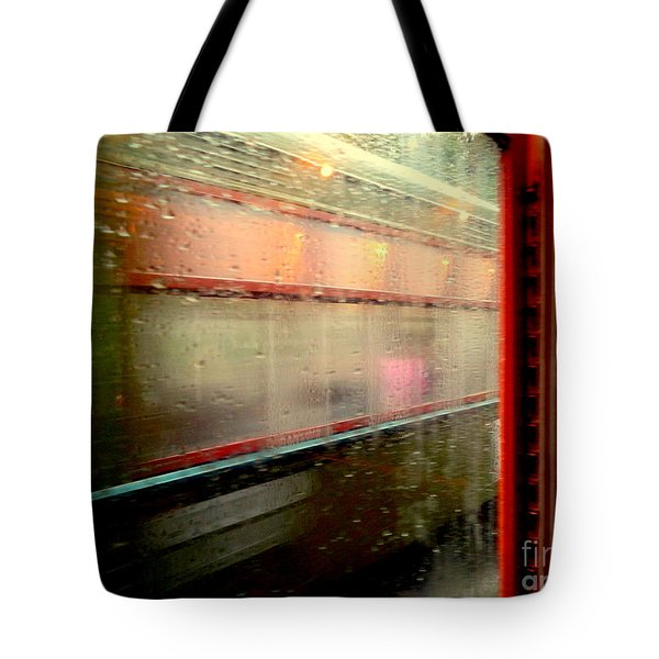 New Orleans Rainy Day Ride On The St. Charles Avenue Street Car In Louisiana Tote Bag