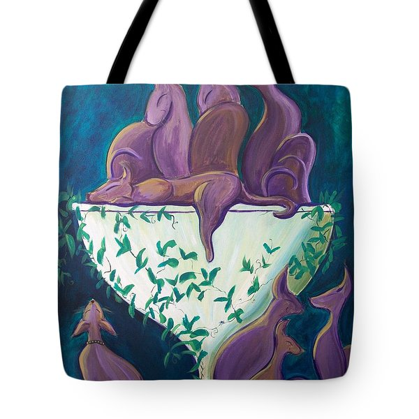 A Rather Elegant Cat Party Tote Bag