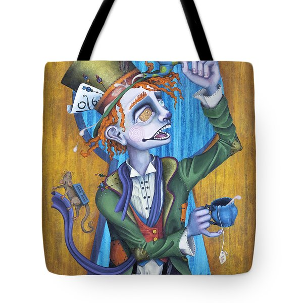A Raven And A Writing Desk Tote Bag by Kelly Jade King