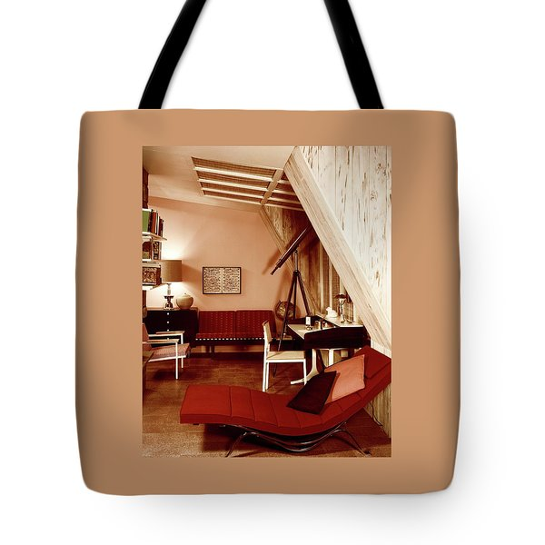 A Red Living Room Tote Bag