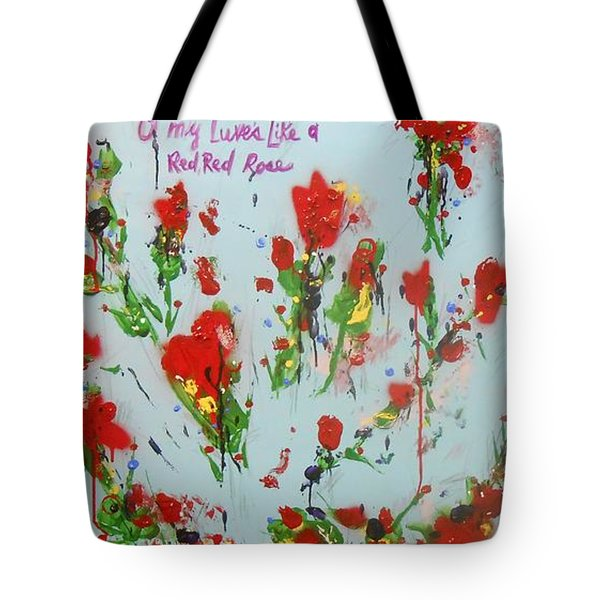 A Red Red Rose Tote Bag