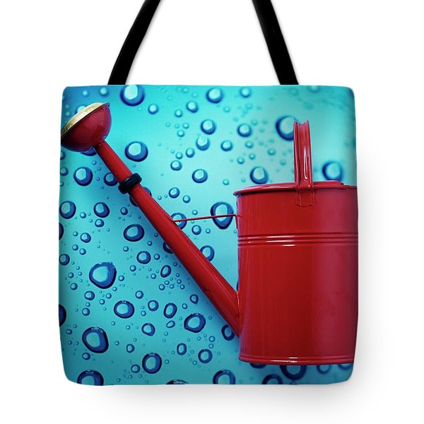 A Red Watering Can Tote Bag