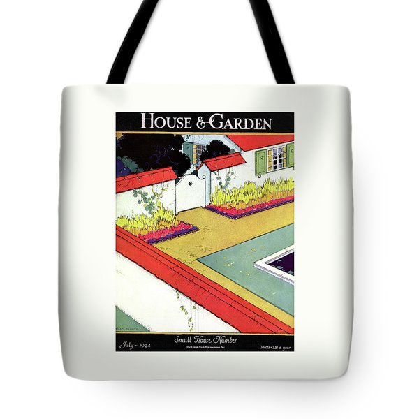 A Reflecting Pool And Garden Tote Bag