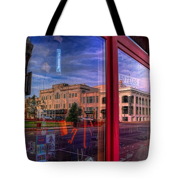 A Reflection Of Wausau's Grand Theater Tote Bag