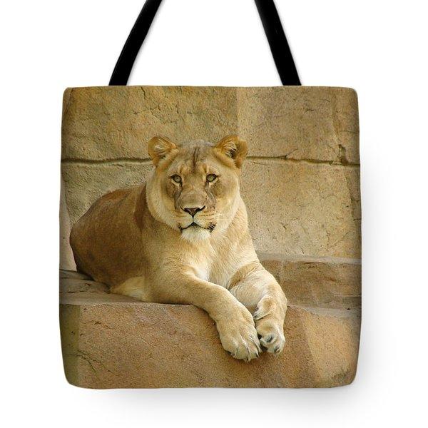 A Regal Presence Tote Bag by Rita Mueller