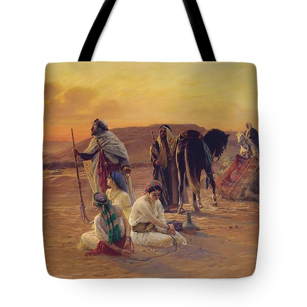 A Rest In The Desert Tote Bag by Otto Pilny