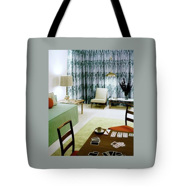 A Retro Bedroom Tote Bag