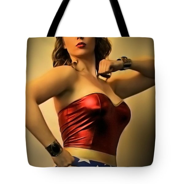 A Wondrous Retro Woman Tote Bag