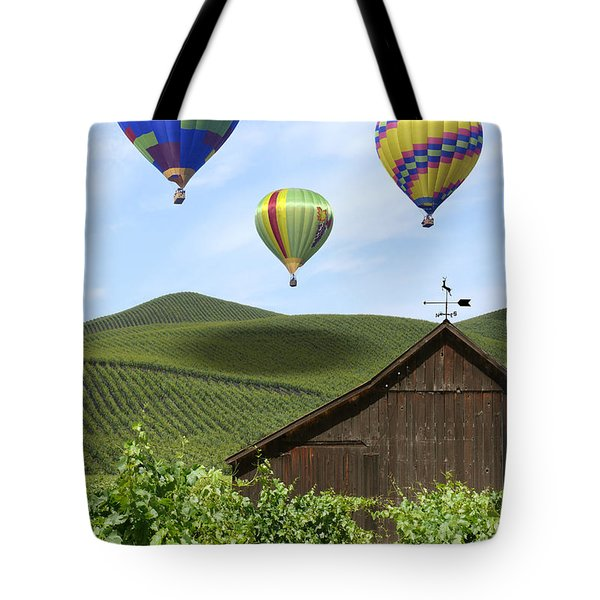 A Ride Through Napa Valley Tote Bag by Mike McGlothlen