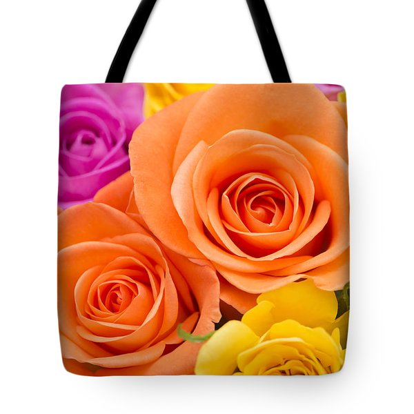 A Riot Of Roses Tote Bag by Anne Gilbert
