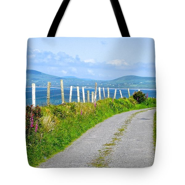 A Road To Waterville Tote Bag by Suzanne Oesterling