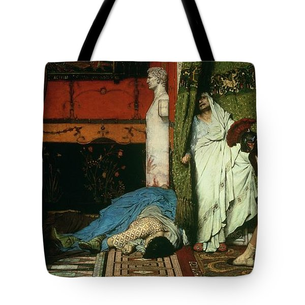A Roman Emperor   Claudius Tote Bag by Sir Lawrence Alma Tadema
