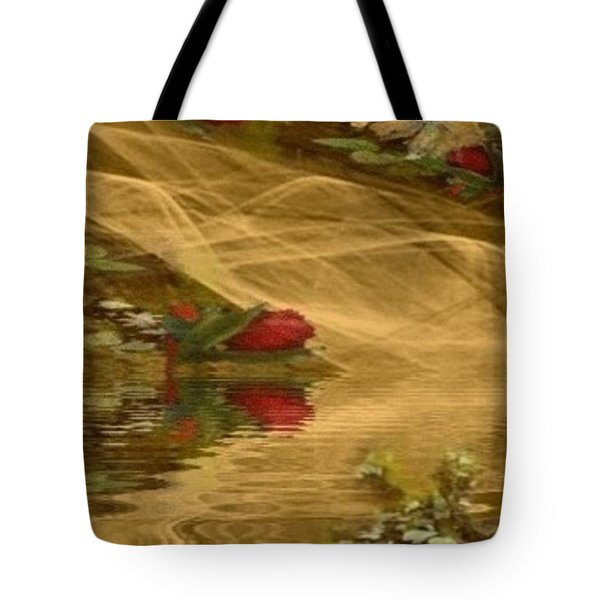 A Rose Bud Stream Tote Bag
