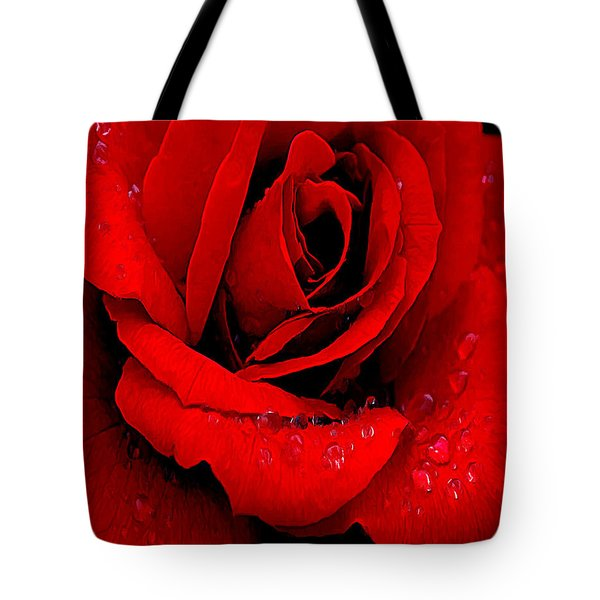 A Rose For A Sweetheart Tote Bag by Bob and Nadine Johnston