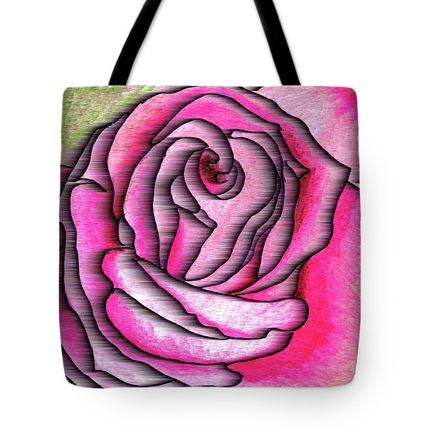 Tote Bag featuring the drawing A Rose Is A Rose by Mary Bedy