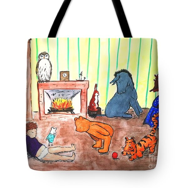 A Row Of Toes Tote Bag