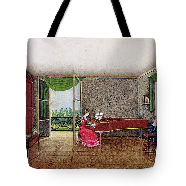 A Russian Interior Tote Bag by Micheline Blenarska