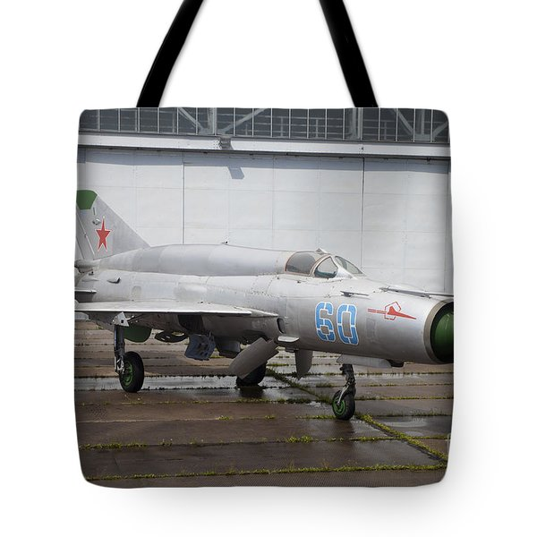 A Russian Mig-21smt Fighter Plane Tote Bag by Timm Ziegenthaler