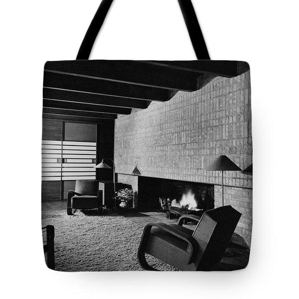 A Rustic Living Room Tote Bag