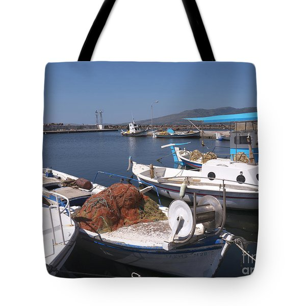 A Safe Anchor In Lesvos Tote Bag