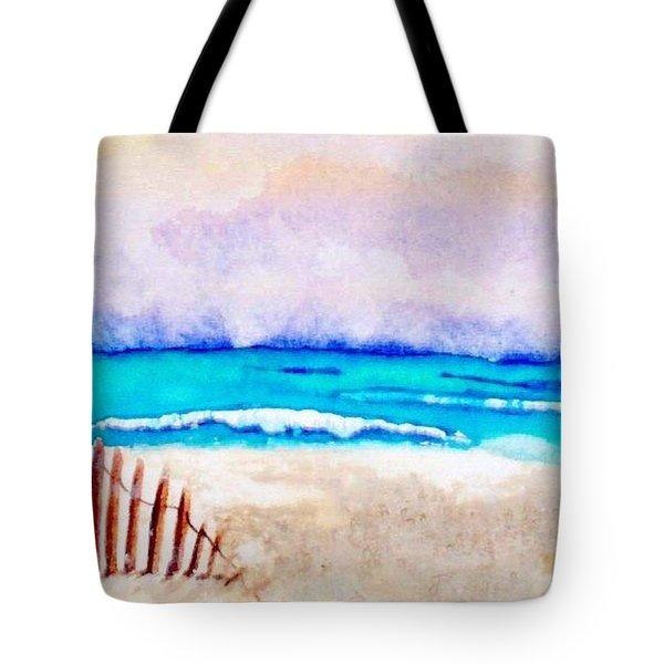 A Sand Filled Beach Tote Bag by Chrisann Ellis