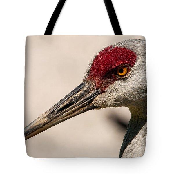 A Sandhill Crane Portrait Tote Bag