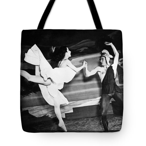 A Scene With The Russian Ballet Tote Bag by Underwood Archives