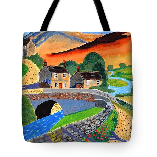 Tote Bag featuring the painting a Scottish highland lane by Magdalena Frohnsdorff