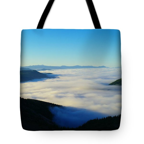A Sea Of Fog  Tote Bag