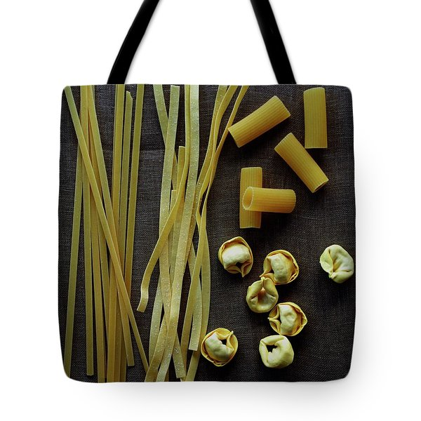 A Selection Of Uncooked Pasta Tote Bag