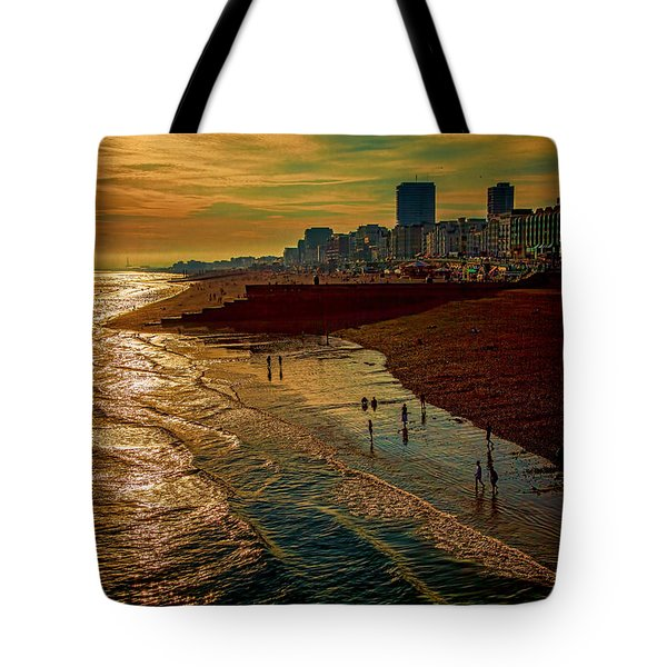 Tote Bag featuring the photograph A September Evening In Brighton by Chris Lord