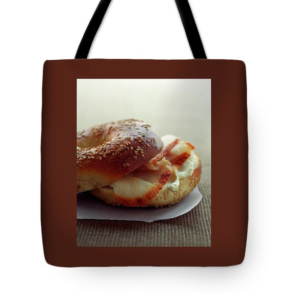 A Sesame Bagel Tote Bag