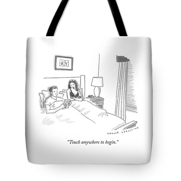 A Sexually Frustrated Wife In Bed Speaks Tote Bag