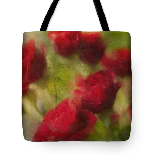 A Shower Of Roses Tote Bag by Colleen Taylor