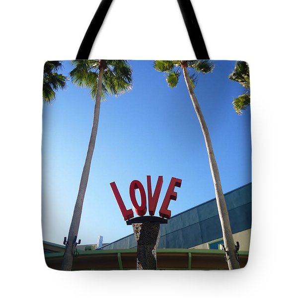 A Sign Of Love Tote Bag by Ann Johndro-Collins