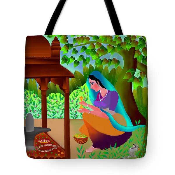 A Silent Prayer In Solitude Tote Bag by Latha Gokuldas Panicker