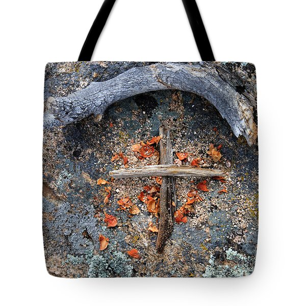 A Simple Sign Of The Cross Tote Bag by Karen Lee Ensley